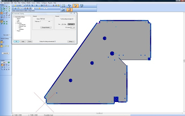 radan cad/cam essential punch for sheet metal punching machines