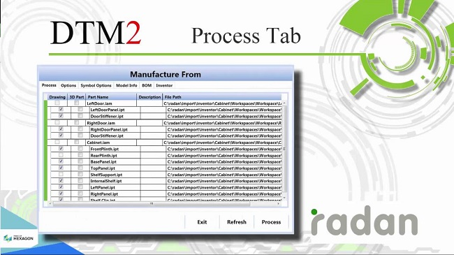 RADAN process management intralogistics radmanager
