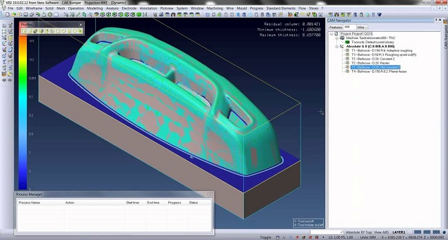 visi CAD/CAM/CAE software mould 5-axis machining milling