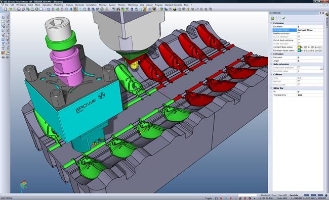 visi CAD/CAM/CAE mould design edm electrode