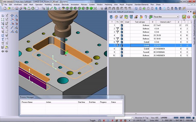 visi CAD/CAM/CAE производство прессформ и штампов обработка фрезерная 2d