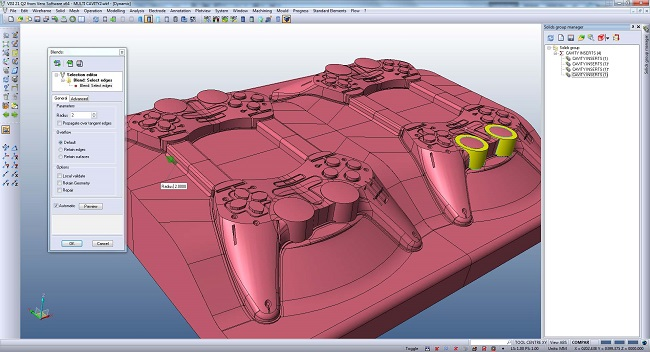 visi CAD/CAM/CAE software mould and die 3d modelling