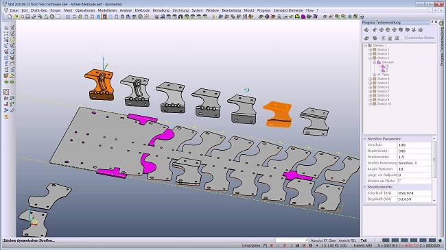 visi CAD/CAM/CAE progressive die design 3d