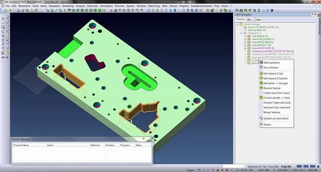 visi CAD/CAM/CAE software wire edm erosion mould