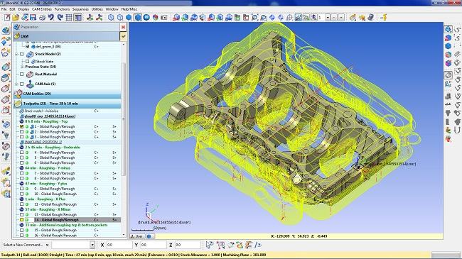 licences WorNC 2-5-axis machining CAM software