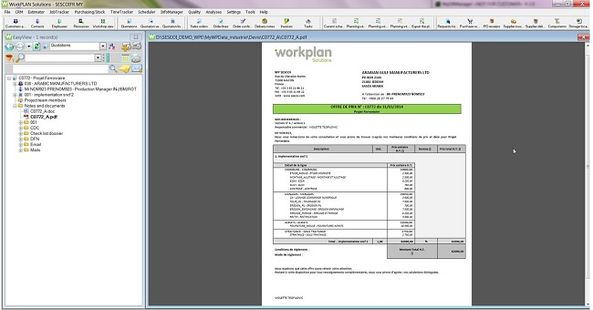 One of the earliest and most important functions of an ERP system is generating quotations. WorkPLAN provides easy tools so you can not only streamline your quotation process, but make it more efficient as well.