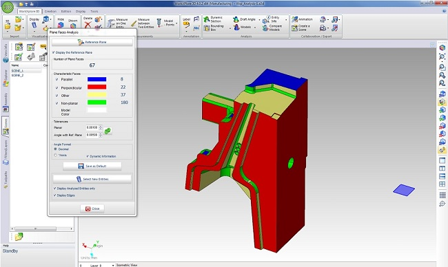 WORKXPLORE 3D CAD viewer analysis tools