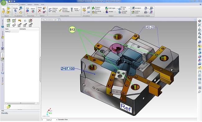 WORKXPLORE 3D CAD viewer annotations