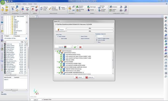 WORKXPLORE просмотр анализ 3D CAD файлов импорт и экспорт
