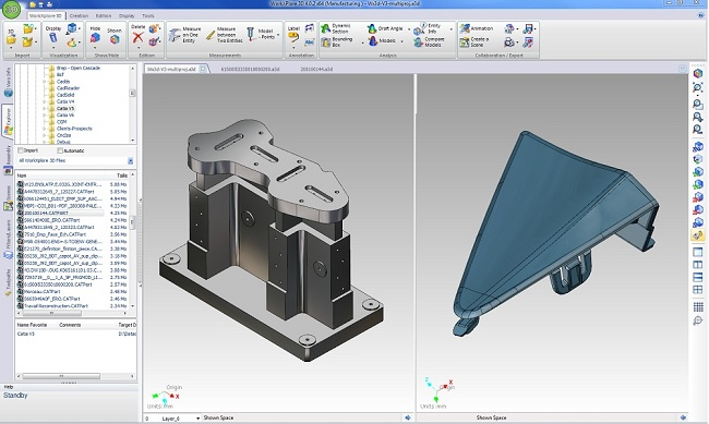 WORKXPLORE 3D CAD viewer user interface